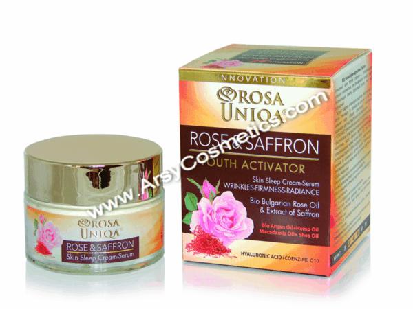Нощен крем-серум Rose & Sаffron